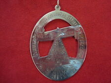 "1978 Lunt Sterling Silver Music of Christmas Ornament ""Oh Tannebaum"""