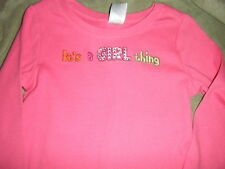 Gymbore Fall Homecoming its a girl thing sparkle jewel top 5 nwt pink long LS