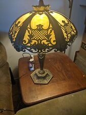"""New listing slag glass lamp about 27"""""""