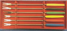 Fondue Forks Set Of 6 Assorted Colors New in Box
