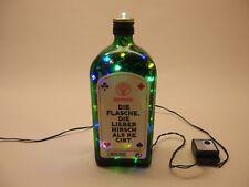 Jägermeister - Flaschenlampe Sonderversion mit 80 LEDs Weiß+Color 2-seitig!