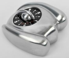 Swiss Bengt EK Car Shape Brushed Aluminium Art Deco 60 Minute Food Wind-Up Timer