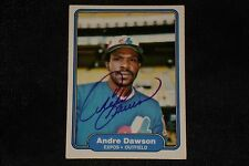 HOF ANDRE DAWSON 1982 FLEER SIGNED AUTOGRAPHED CARD #187 MONTREAL EXPOS