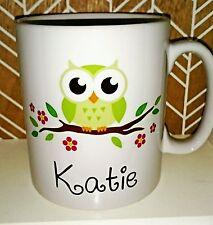 Personalised Cute Owl Mug - New - Handmade