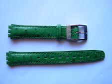 SWATCH  x LADY o IRONY LADY GREEN -  -  - NEW leather strap band cinturino