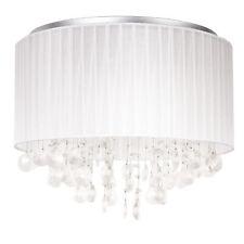 Lux.Pro Deckenleuchte Stoff Kristall Ø43cm Hängeleuchte Kronleuchter Lüster Weiß