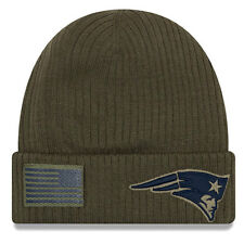New England Patriots New Era 2018 Salute to Service NFL Sideline Knit Hat-Olive