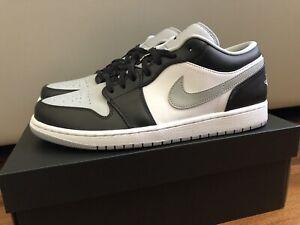 "Air Jordan 1 Low ""Shadow"" Smoke Grey 553558-039 Men's Size 12 Brand New"