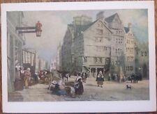 Edinburgh c1854 Old Bowhead Lawnmarket J.D. Harding Leitch Vintage Postcard