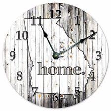 "GEORGIA RUSTIC HOME STATE CLOCK - Large 10.5"" Wall Clock - 2240"