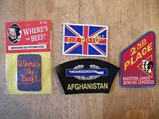 LOT OF 4 OLD PATCH PATCHES VINTAGE arbys wheres the beef sex pistols abc bowling