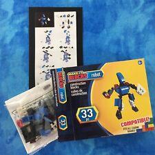 Make-It Blocks, Blue Robot 33 Pc. Fits All Leading Brands, Age 6+, Nib