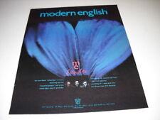 MODERN ENGLISH release the album PILLOW LIPS original 1990 PROMO POSTER AD mint
