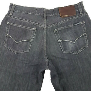 Crocodile Jeans Relaxed Zip Fly Light Black Sz Tag 36 Mens W34 JE77