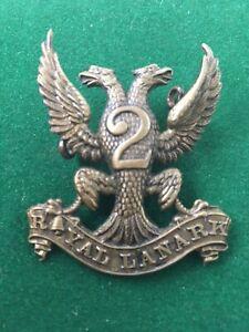 CAP BADGE INSIGNIA BRITISH 2ND ROYAL LANARK MILITIA
