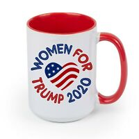 DONALD TRUMP Women For Trump 2020 EXTRA LARGE COFFEE MUG CUP 15 oz RED