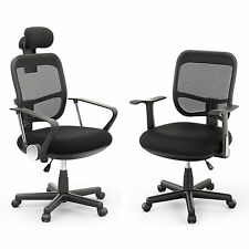 Executive Office Computer Desk Chair Mesh Seat Mid-back/High Back Ergonomic