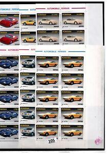 // 10X ROMANIA - MNH - AUTO RACING - CARS - SPORTCARS - FERRARI
