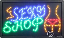 QUALITY  FLASHING  SEXY SHOP LED sign board new window shop signs