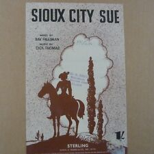 songsheet  SIOUX CITY SUE, 1945