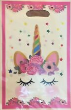 10 Flower Unicorn Party Gift Bags Candy Favour Bag Loot Bags For Birthday