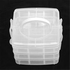 1 Stk. Rechteck Plastik Container Behälter Schmuck Perlen Kasten drei Schichten