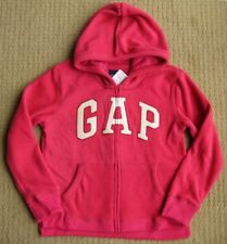 Gap Kids NWT Bright Claret Dark Hot Pink Pro Fleece Logo Zip Hoodie Jacket XL/12