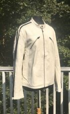 Street Legal White Leather Jacket (M) NEW CONDITION