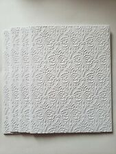 Embossed Note Cards- 6 white (4 x 5) cards With Envelopes - Blank Inside
