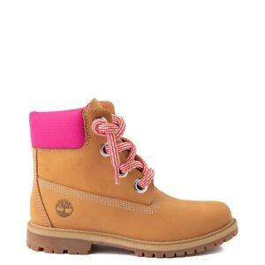 """Womens Timberland 6"""" Premium Boot Wheat Pink NEW"""