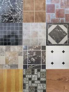 Vinyl Floor Tiles Squares Self Adhesive Easy Fit Hard Wearing Various Designs