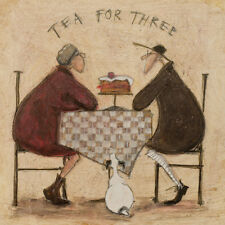 Sam Toft - Tea for Three 2 - Ready Framed Canvas 40x40cm