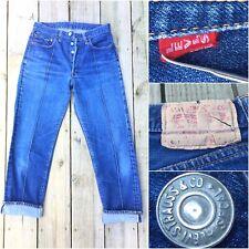 LEVIS 501 XX Jeans RARE #4 True Vintage 60s Selvedge Red Big E Single Stitch W30
