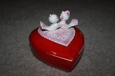 Vintage Lefton Love Birds Valentine Heart Shaped Dish