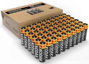 60 KODAK AA Alkaline Batteries  - Industrial 1.5v 2700mAh LR6 + FREE SHIPPING