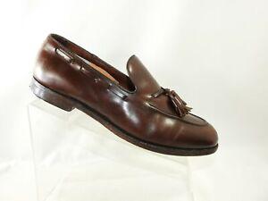 FootJoy Size 11 C Brown Leather Moc Toe Tassel Slip On Loafer Dress Mens Shoes