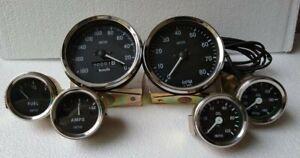 Smiths-52mm-Kit-Temp-Oil-Fuel-Amp-Gauge-Speedometer-Tachometer-Replica