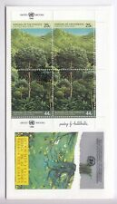 TIMBRE STAMP FDC COVER NATIONS UNIES USA Y&T#515-16 x 2 ARBRE FORET 1988 ~B74