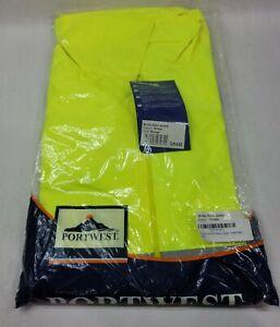 Portwest UH440 Hi-Vis Reflective Waterproof Rain Hooded Safety Work Jacket ANSI