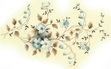Ceramic Decals Blue Vining Floral and Leaves 8 1/4in x 5in