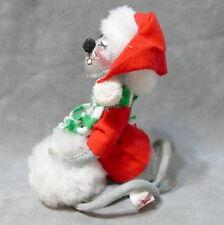 "New listing Annalee Doll Christmas Mouse Santa Felt Vintage Animal 1988 Snowball 6"""