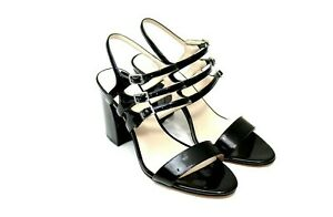 Nine West Hadil Sandal Women Size 11 Black Block Heel Strappy Sandal Ankle Strap