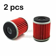2pcs Oil Filter For Yamaha YZ250F XT250 VP125 X-CITY XG250 TRICKER YP125R X-MAX