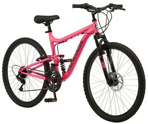 Mongoose Major Mountain Bike 26 inch wheels 21 speeds pink womens Fast Shiping