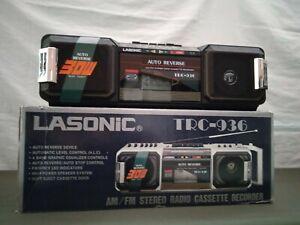 LASONIC TRC 936 Working Boombox Ghettoblaster NIB NEW IN BOX