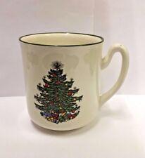Cuthbertson ORIGINAL CHRISTMAS TREE Mug Model 2 (Narrow Green Band On Cream)