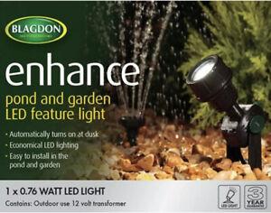 Blagdon Enhance Pond Garden Water LED Feature Light 1 X .76W Turns On @ Dusk DIY