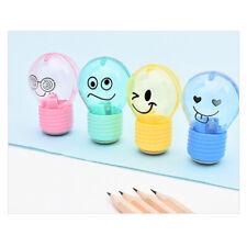Bulb Pencil Sharpener Creative Plastic For Kids Gifts Stationery School Supplga