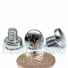 M5 x 6mm - Qty 10 - Stainless Steel Phillips Pan Head Machine Screws DIN 7985 A