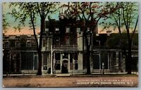 Postcard Auburn NY c1910s Auburn State Prison Showing Gates & Wardens Office